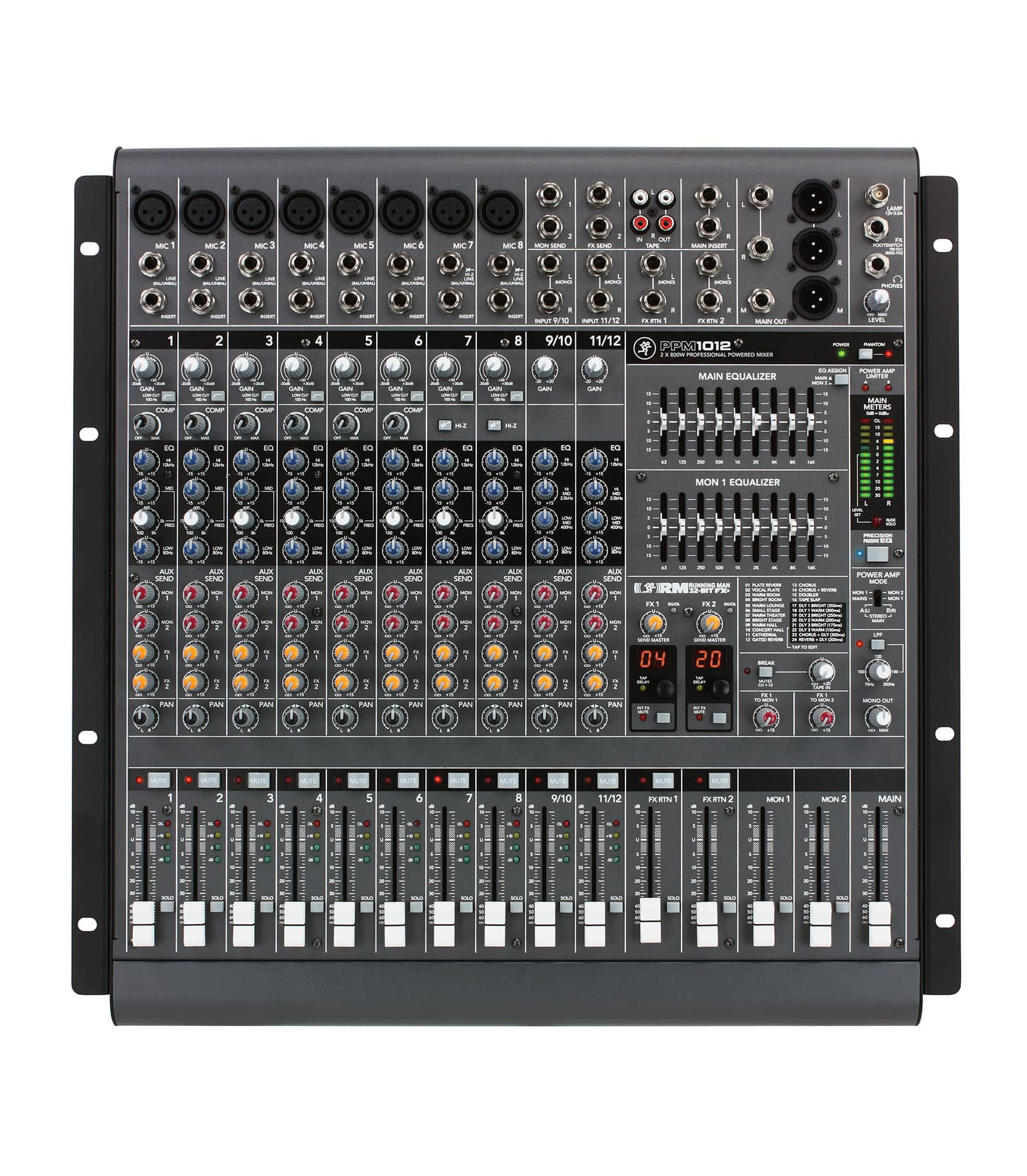PPM1012 12channel Powered Mixer w Effects 1600W