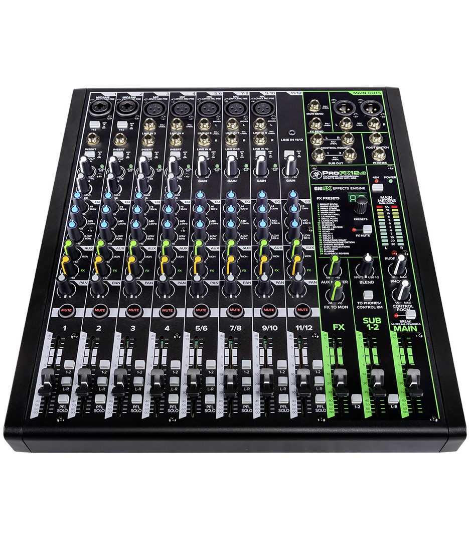 Mackie - ProFX12v3 Professional 12 Channel Mixer w Effects