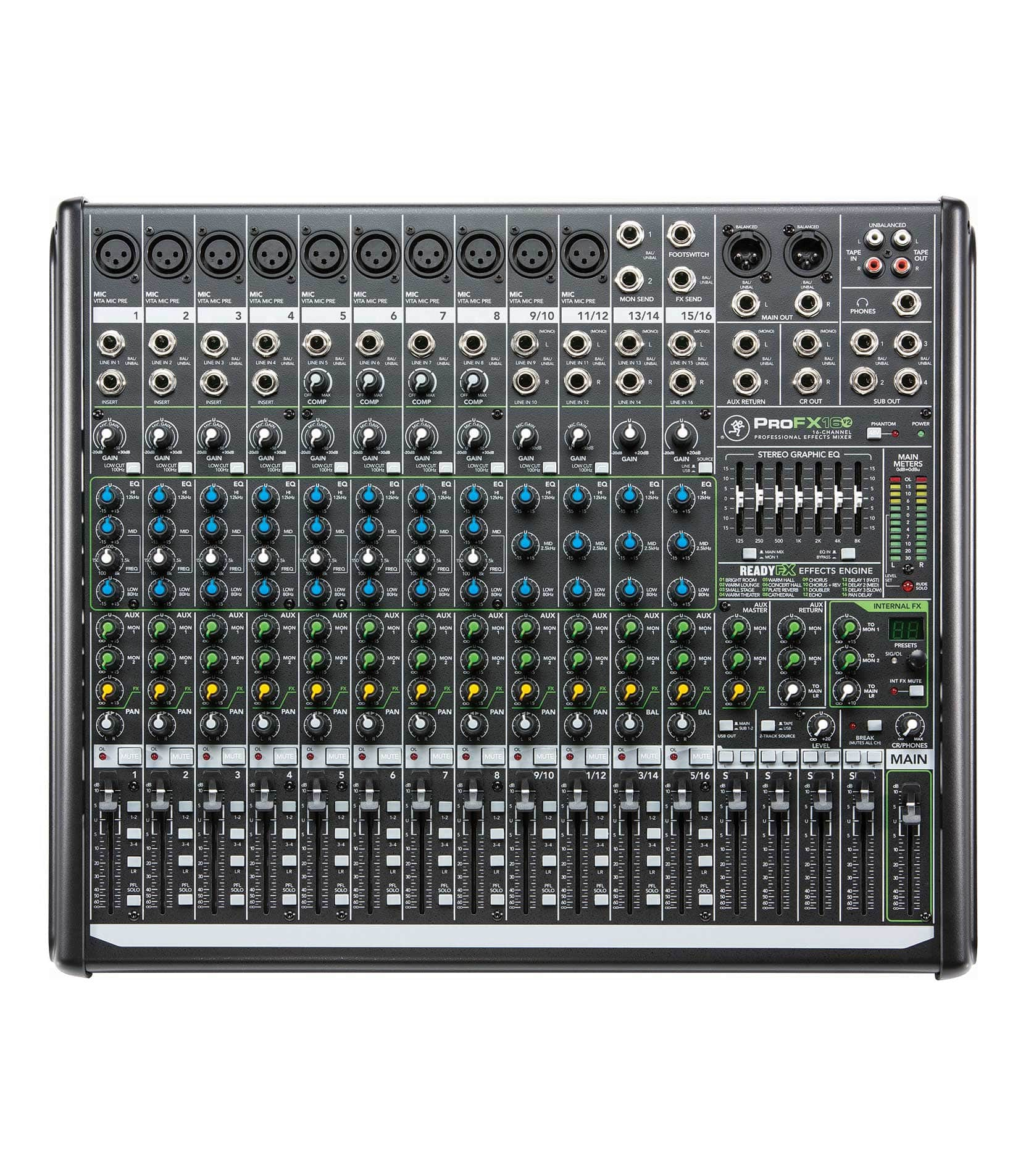 ProFX16v2 EU 16 channel 4 Bus Effects Mixer with U