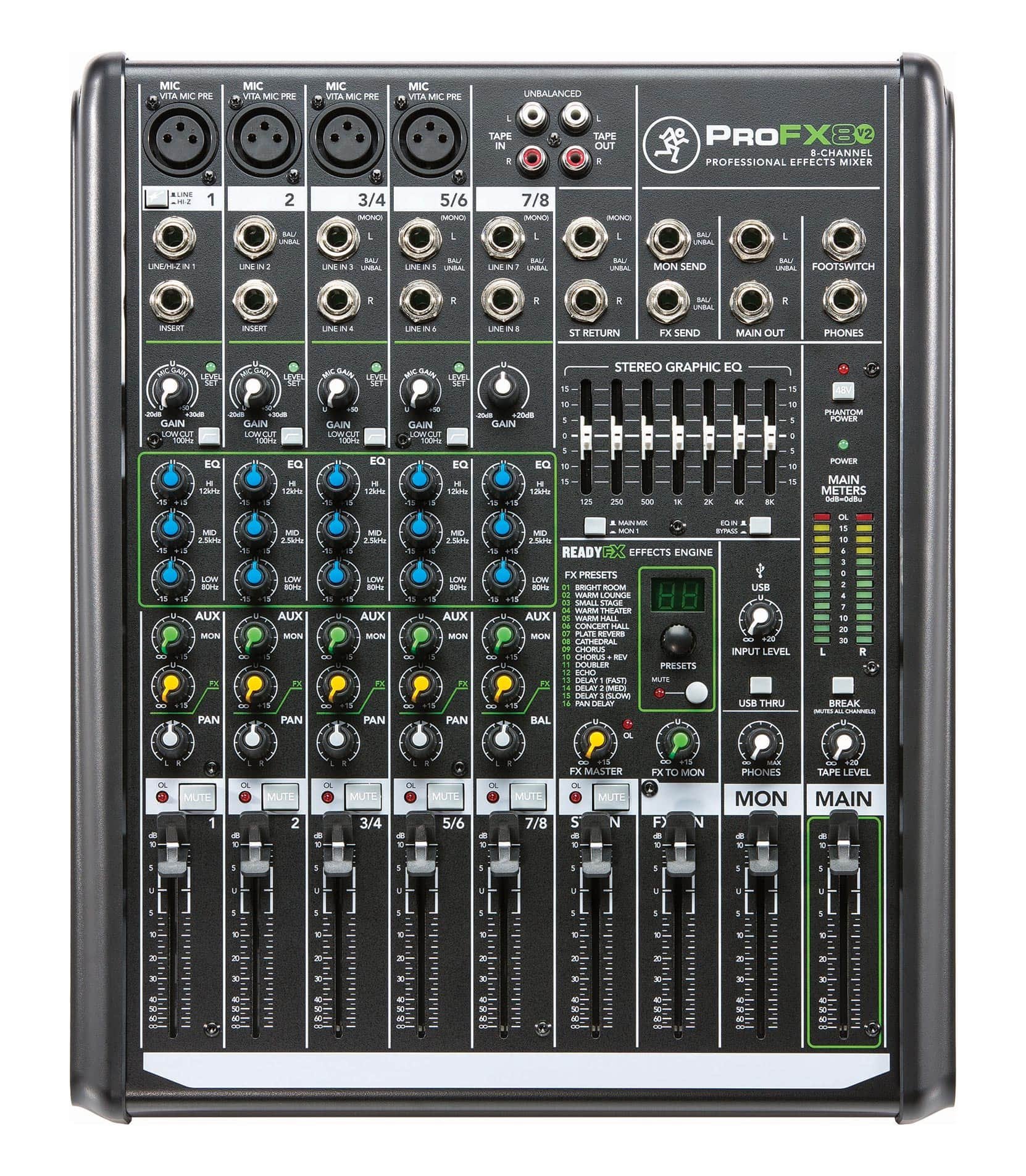 Buy Mackie ProFX8v2 8 Channel Effects Mixer UK Plug Melody House