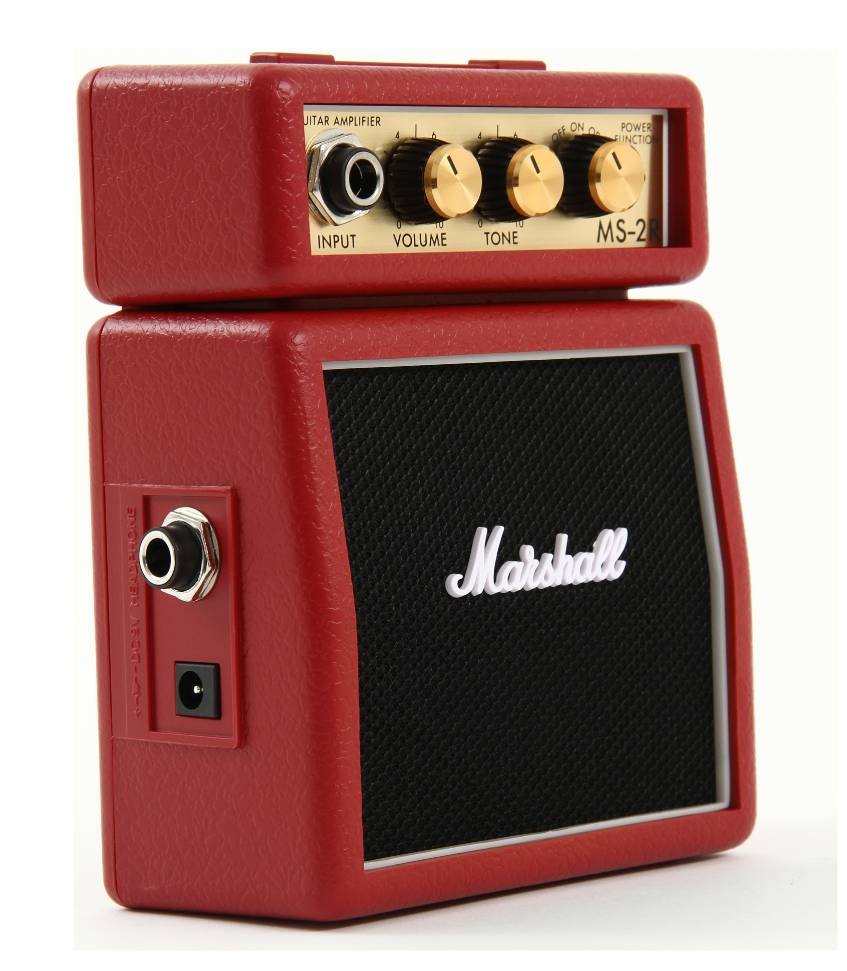 Marshall - MS 2R Mini Guitar Amp 1W Red Color - Melody House