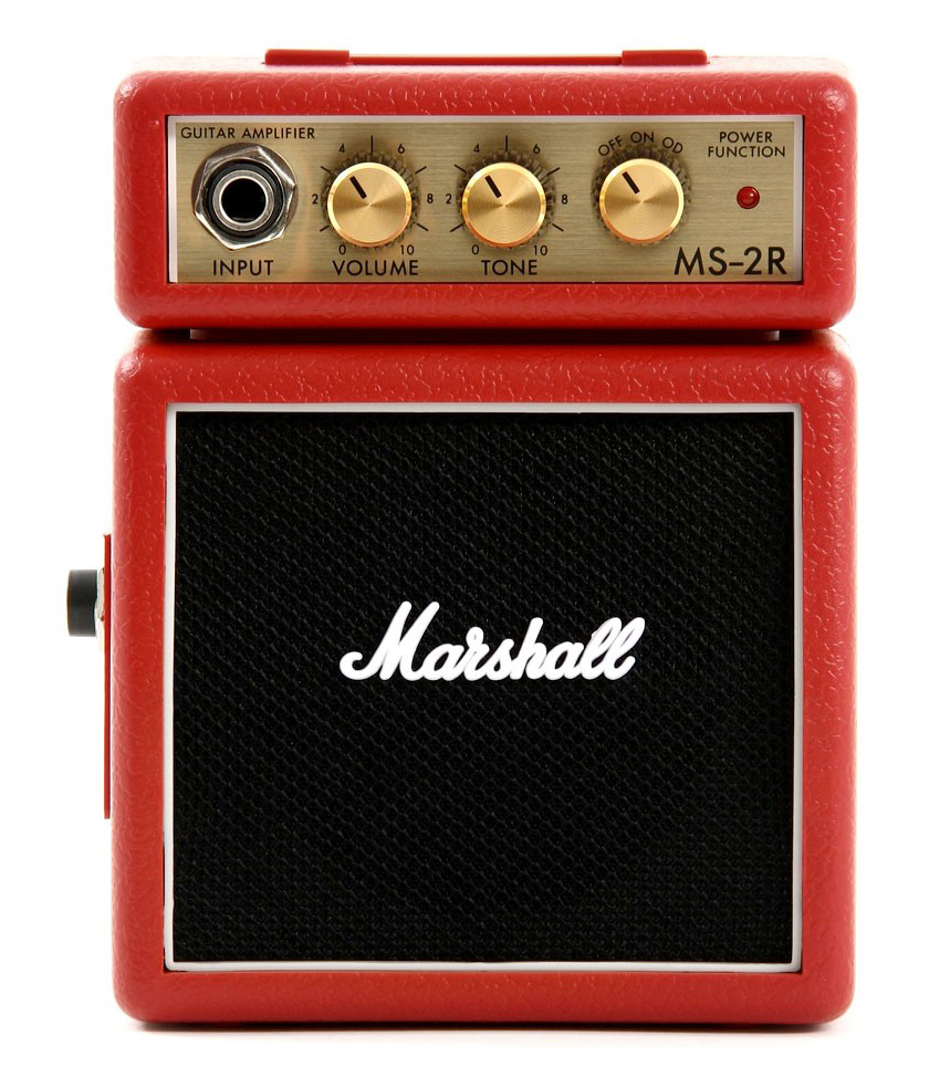 Buy marshall MS 2R Mini Guitar Amp 1W Red Color Melody House