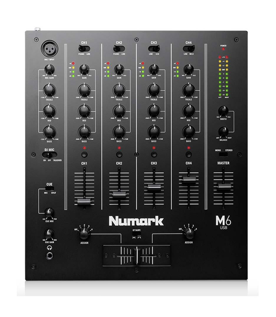 buy numark m6usbblack 4 channel usb dj mixer
