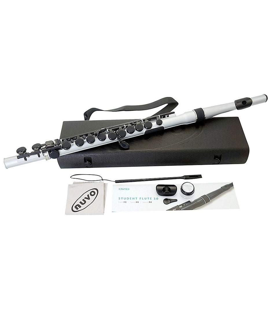 Nuvo - N235SFSB Student Flute Silver Black - Melody House Musical Instruments