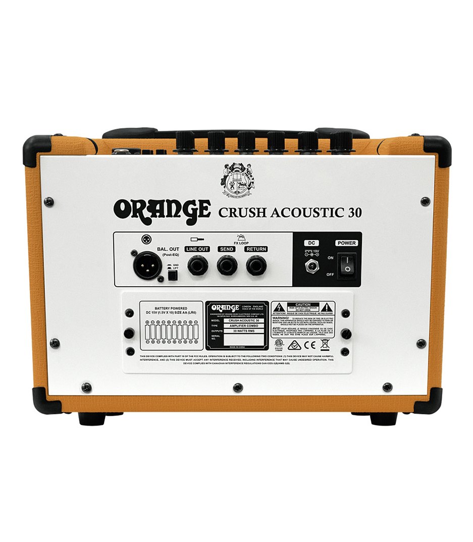Orange - CRUSH ACOUSTIC 30 Twin Channel 30w 1 x 10 Acousti - Melody House