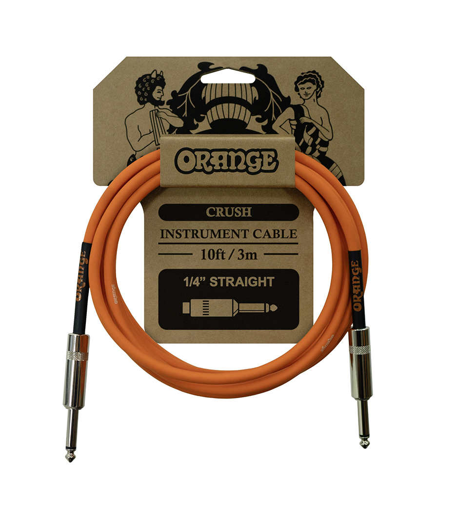 Orange - Crush 10ft Instrument Cable Straight to Stra