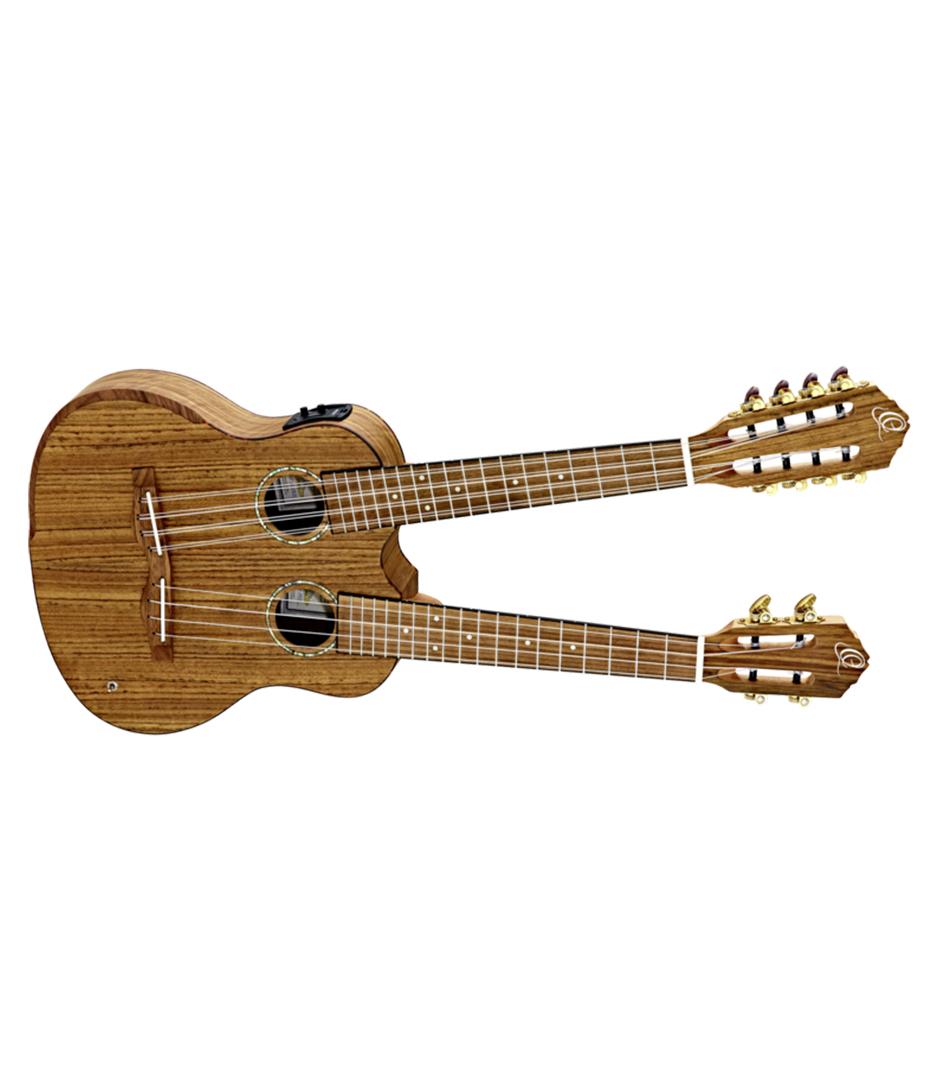 Ortega - HYDRA Double Neck Tenor Ukulele 4 8 Strings Ovankg