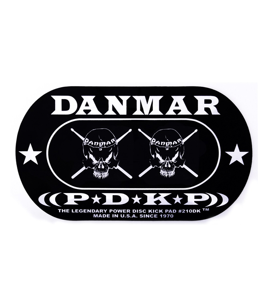 DANMAR - DOUBLE KICK BASS DRUM IMPACT PAD Skull