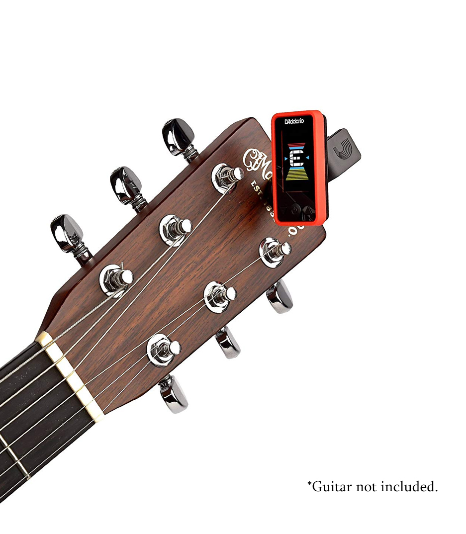 D'Addario - Eclipse Clip On Tuner Red Colour - Melody House