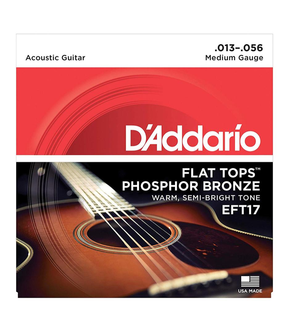buy d'addario eft17 set acous gtr flat top pb med