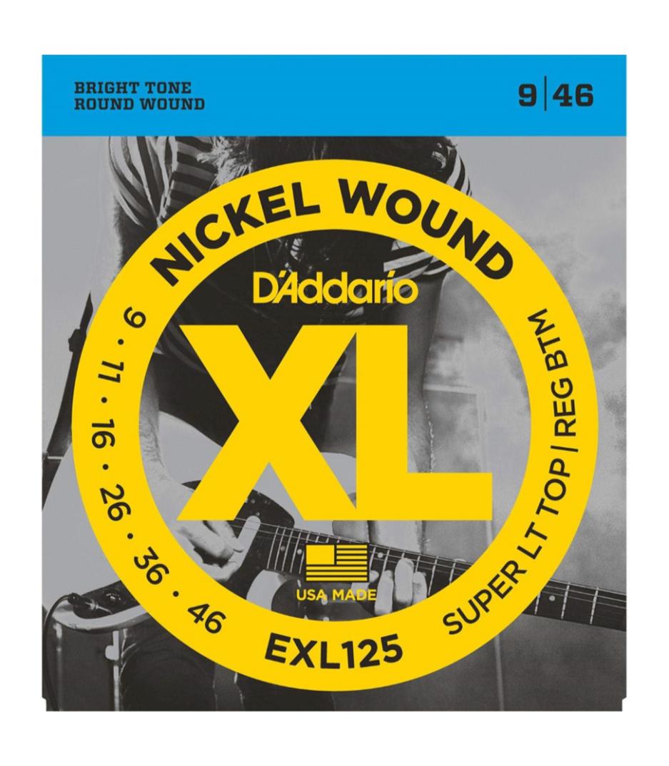 D'Addario - EXL125 SET ELEC GTR XL SUP LITE REG