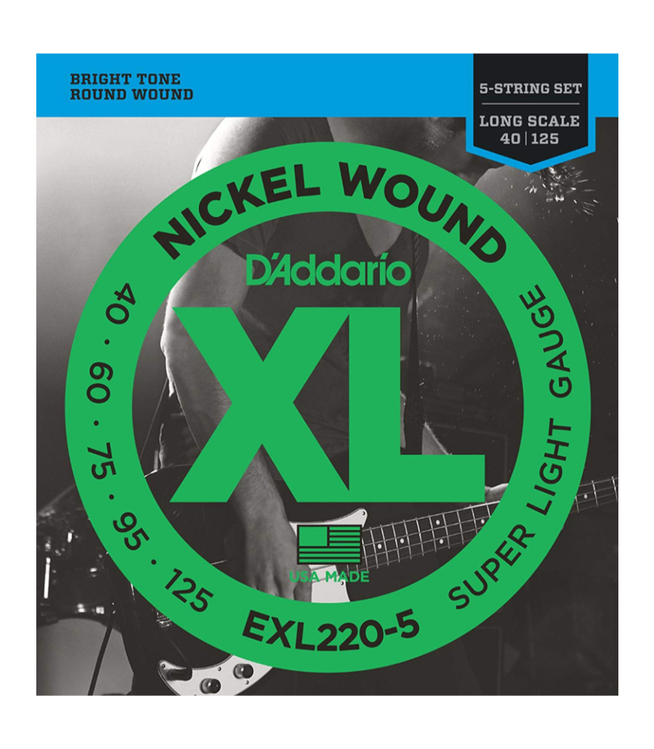 D'Addario - EXL220 5SET BASS XL 40 125 LONG 5STR