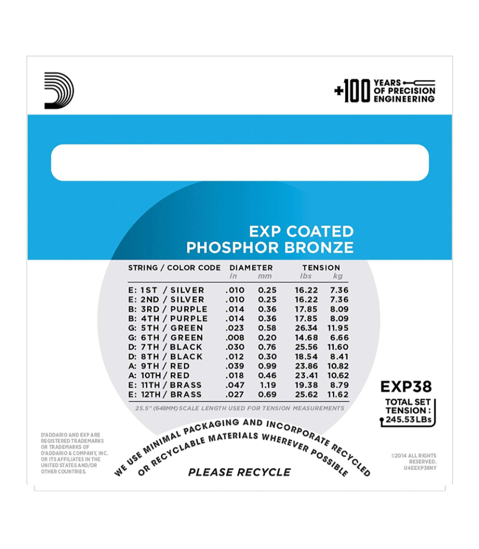 D'Addario - EXP38 - Melody House Musical Instruments
