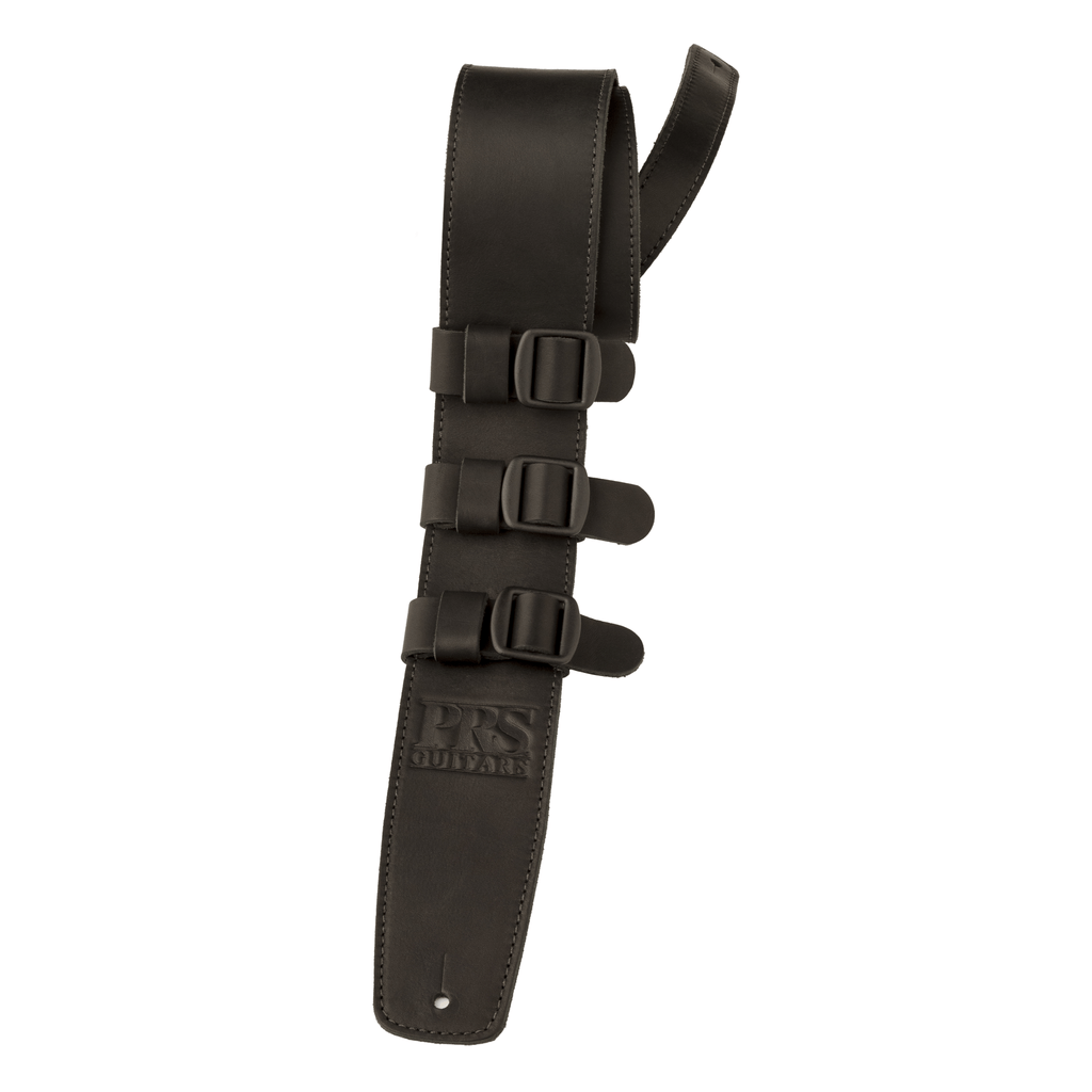 buy prs leather tri buckle strap black