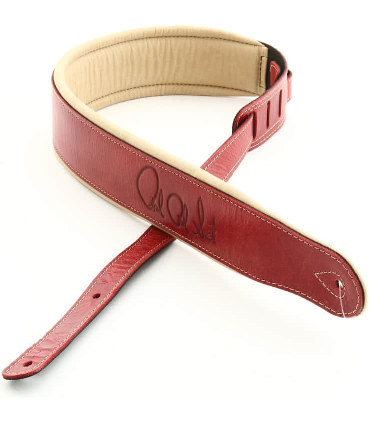 Buy prs Leather Signature Strap Red Tan Melody House