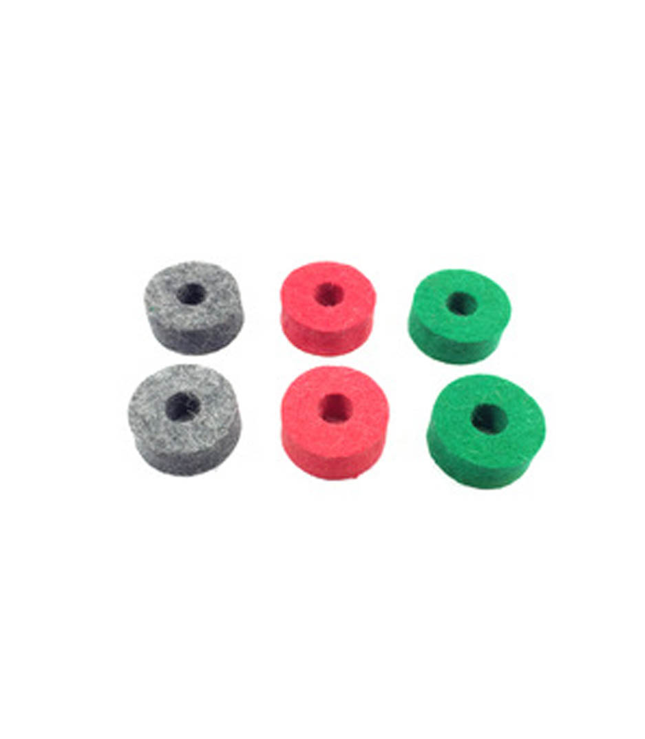 Buy Ahead - Wool Cymbal Felts Black Red Blue Mix