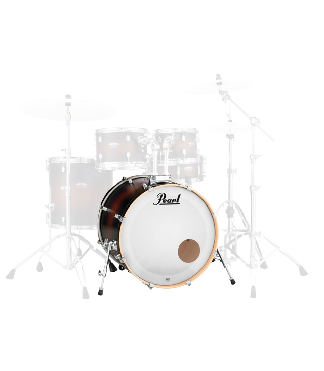 buy pearl dmp2218 bass drum w bb300 satin brown burst finish
