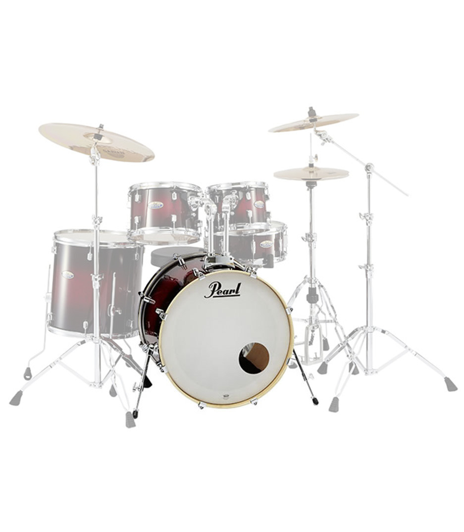 Pearl - DMP2218 Bass Drum With BB300 Gloss Deep Red Burst