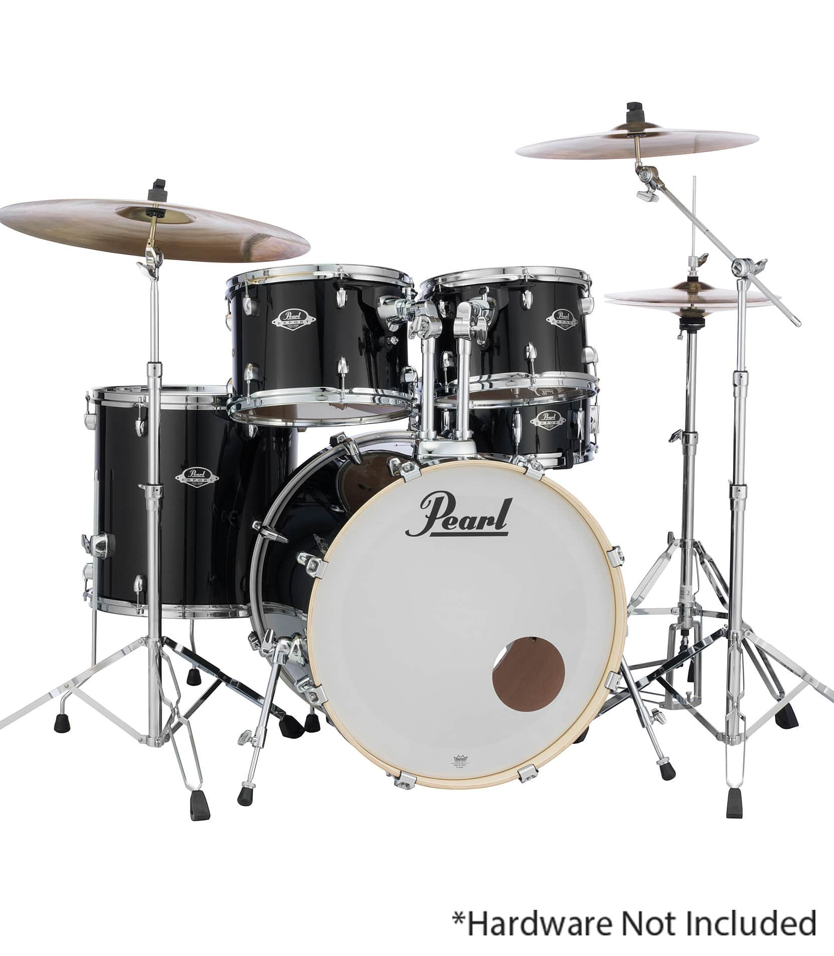 Buy pearl Export Standard 5pc Drum Set Jet Black Finish Melody House