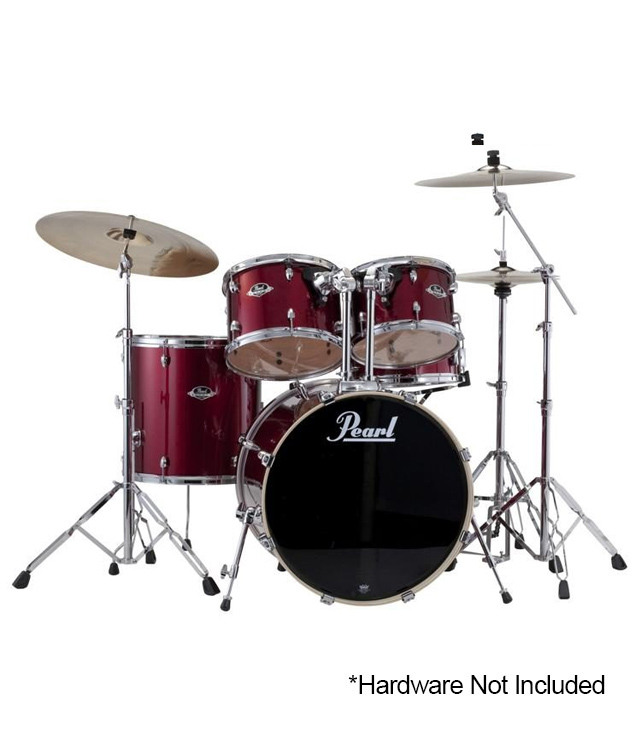 buy pearl export standard 5pc drums set burgundy finish