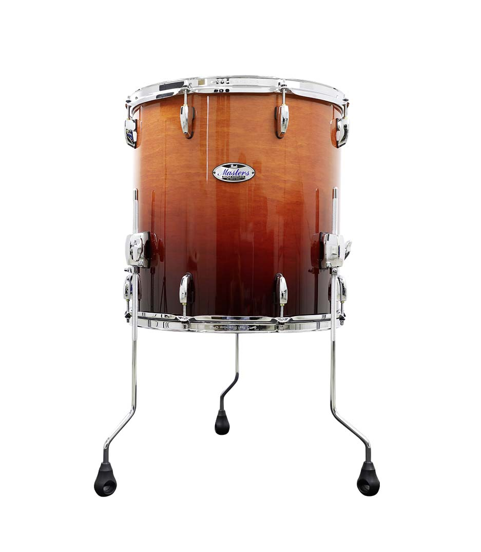 buy pearl foor tom wsh quited chestnut fade finish