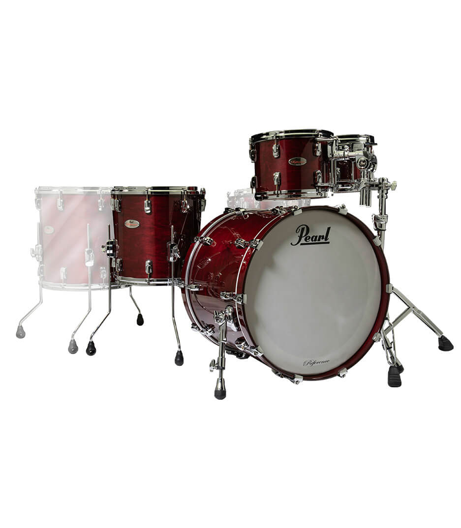 buy pearl reference fusion 4pc wine red finish