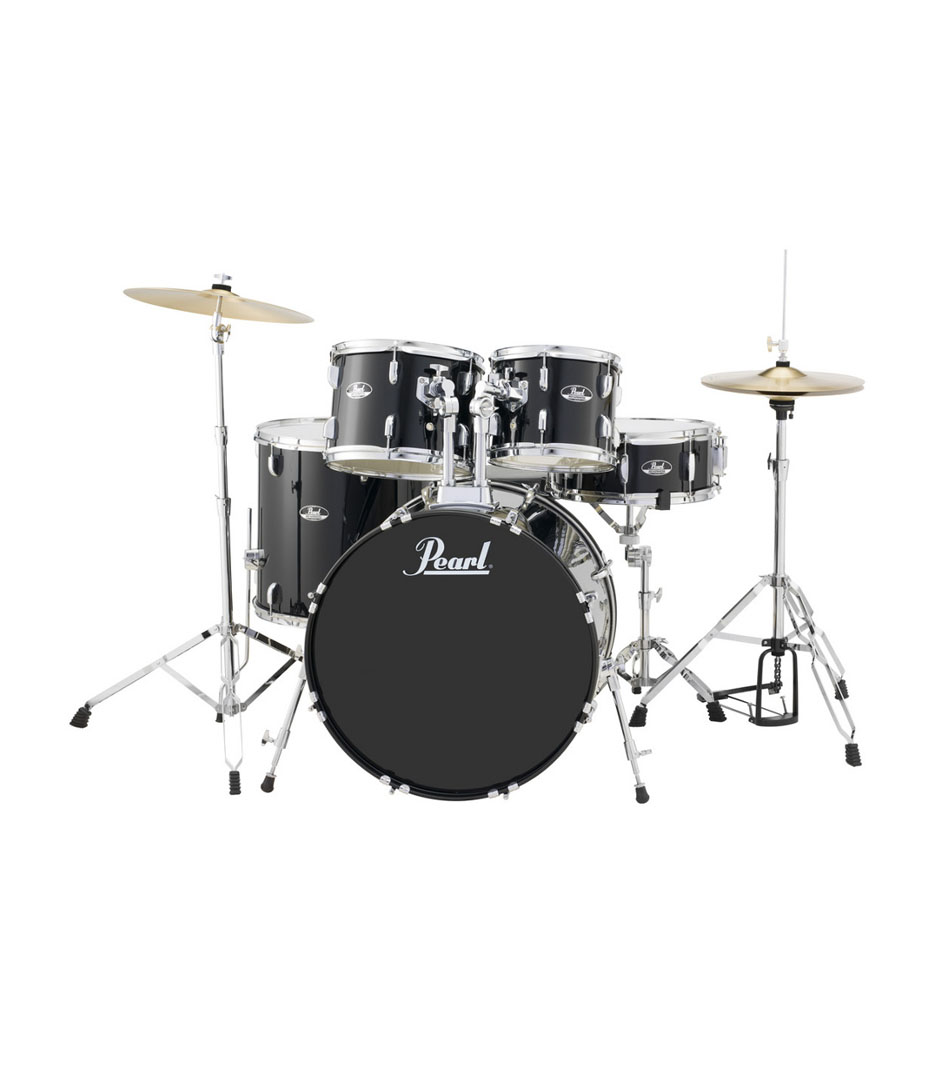 buy pearl road show 5pc kit w hardware cymbals jet black
