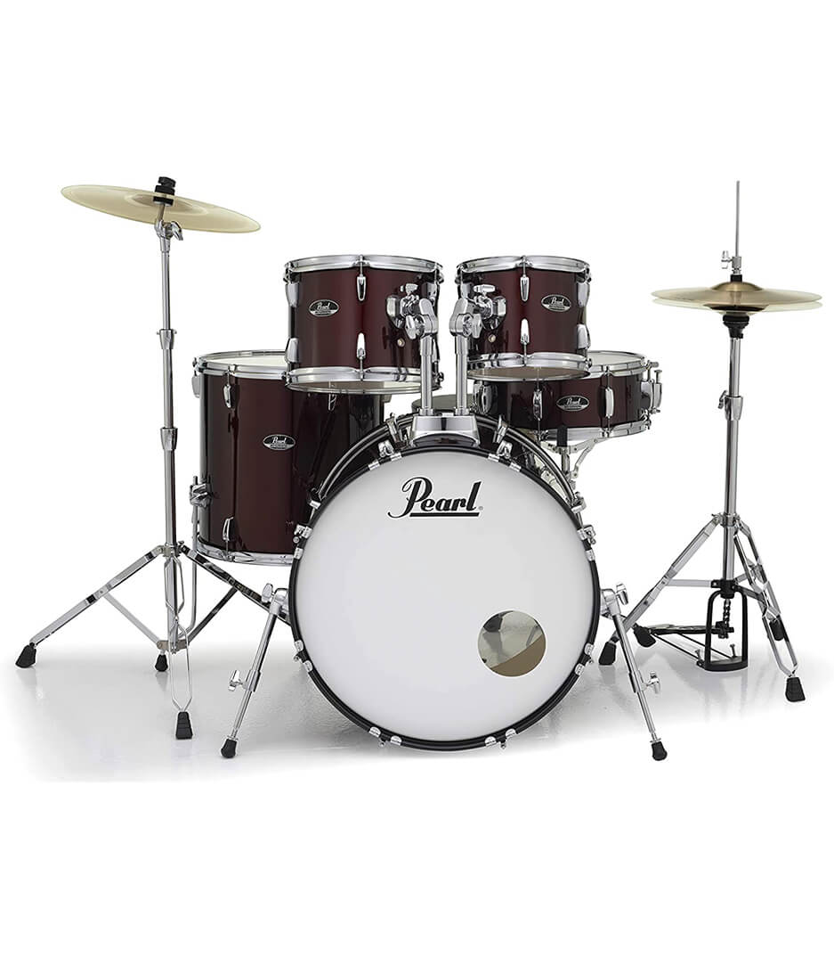 buy pearl road show 5pc kit w hardware cymbals wine red