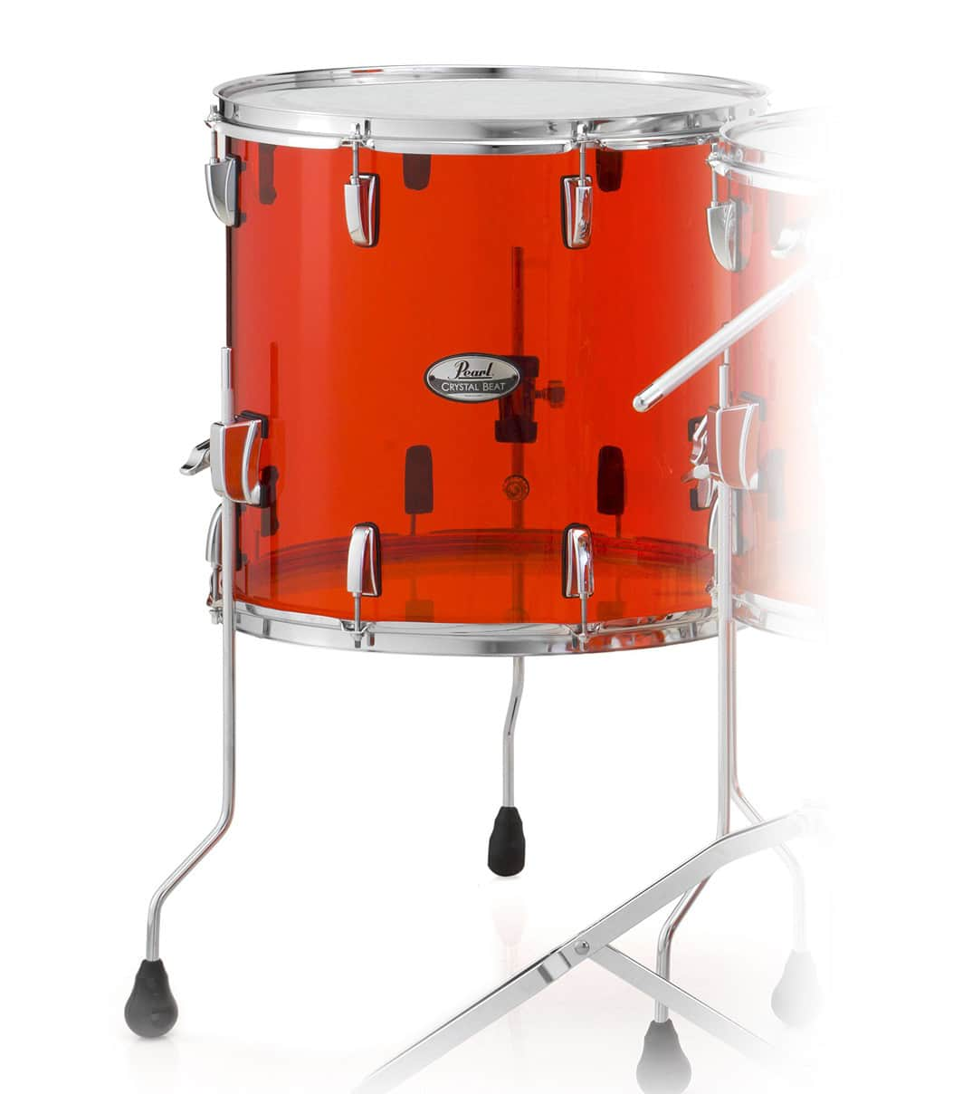 buy pearl crystal beat floor tom 16 x15 ruby red finish