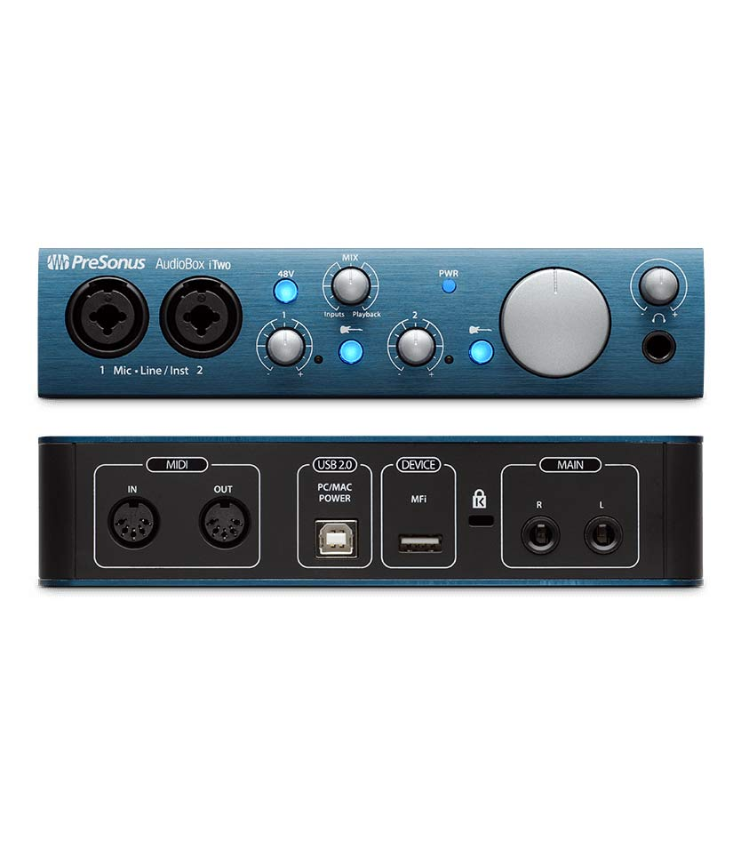 buy presonus audiobox itwo2x2 usb2 0 ipad midi recording
