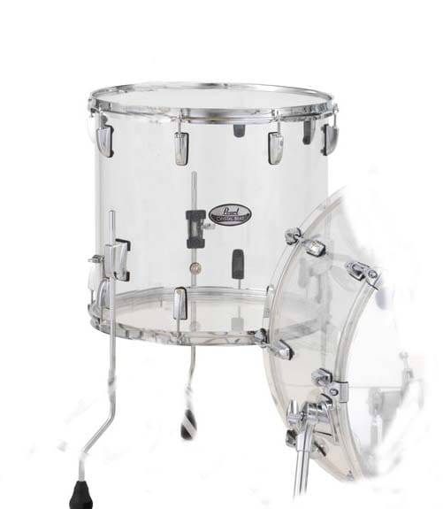 pearl - Crystal Beat Floor Tom 16 x15 Ultra Clear Finish - Melody House Musical Instruments