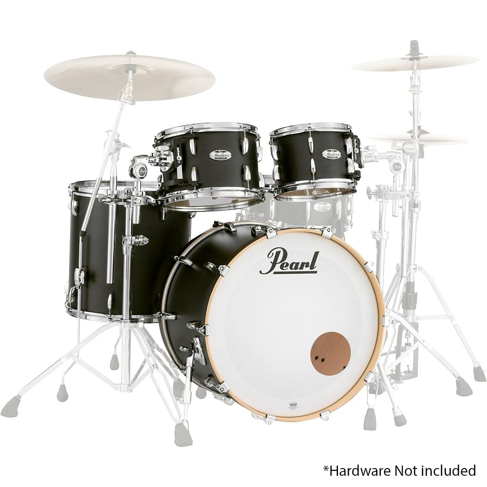 Buy pearl - Masters Maple Complete 4pc Shell Matte Black Mist