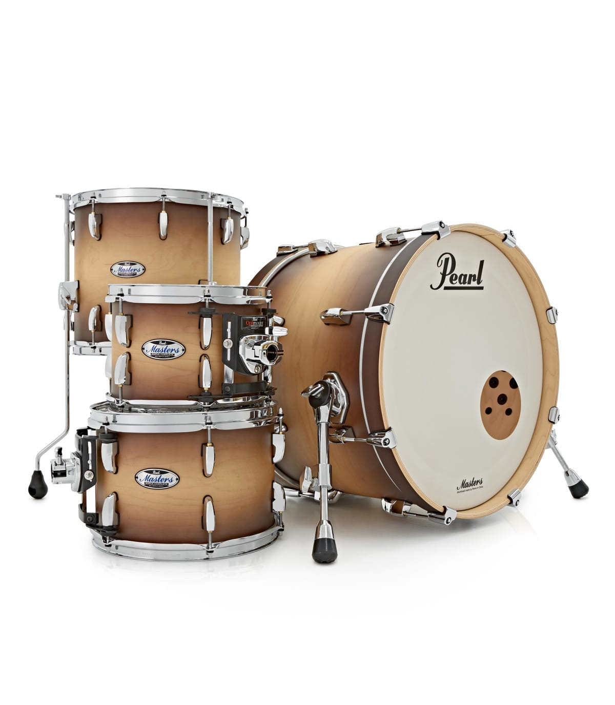 Pearl - Masters Maple Complete 4pc Shell Satin Nat Burst