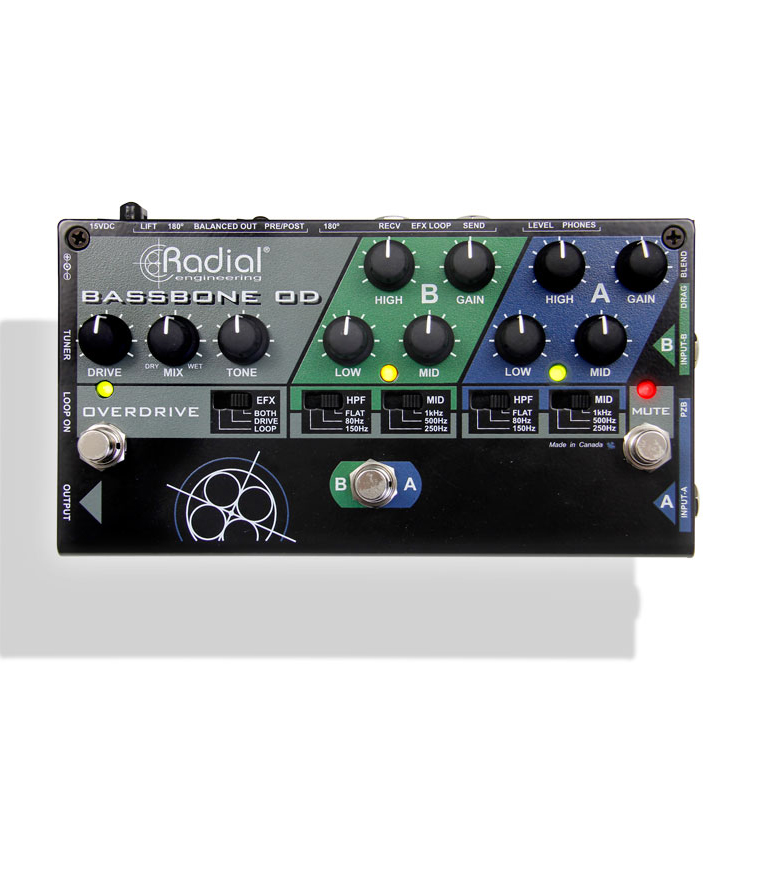 buy radial bassbone od bass preamp w two instrument input ch