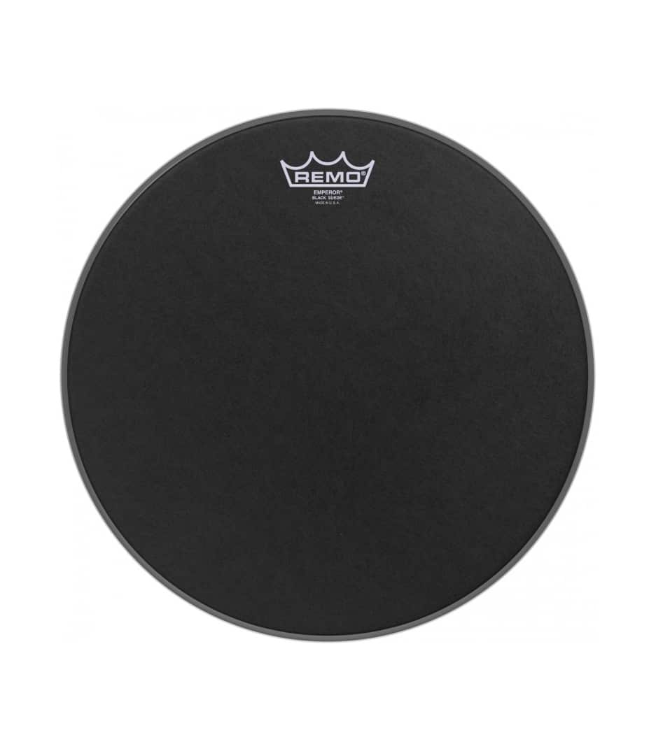 Buy remo Emperor Black Suede 12 Diameter Melody House