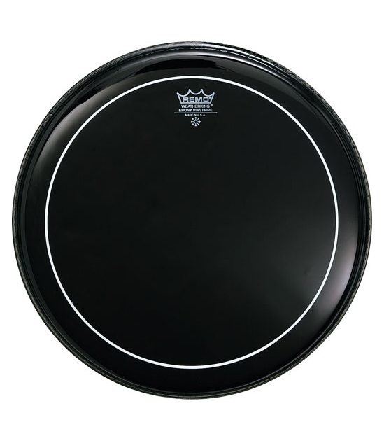 Remo - Batter PINSTRIPE EBONY 18 Diameter - Melody House Musical Instruments