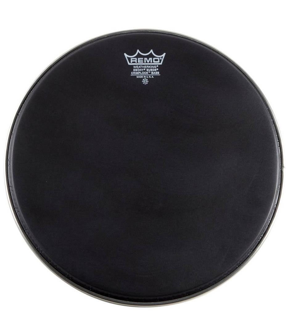 Remo - Bass EMPEROR BLACK SUEDE 20 Diameter MP - Melody House Musical Instruments