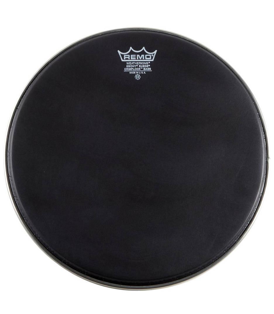 buy remo bass emperor black suede 20 diameter mp