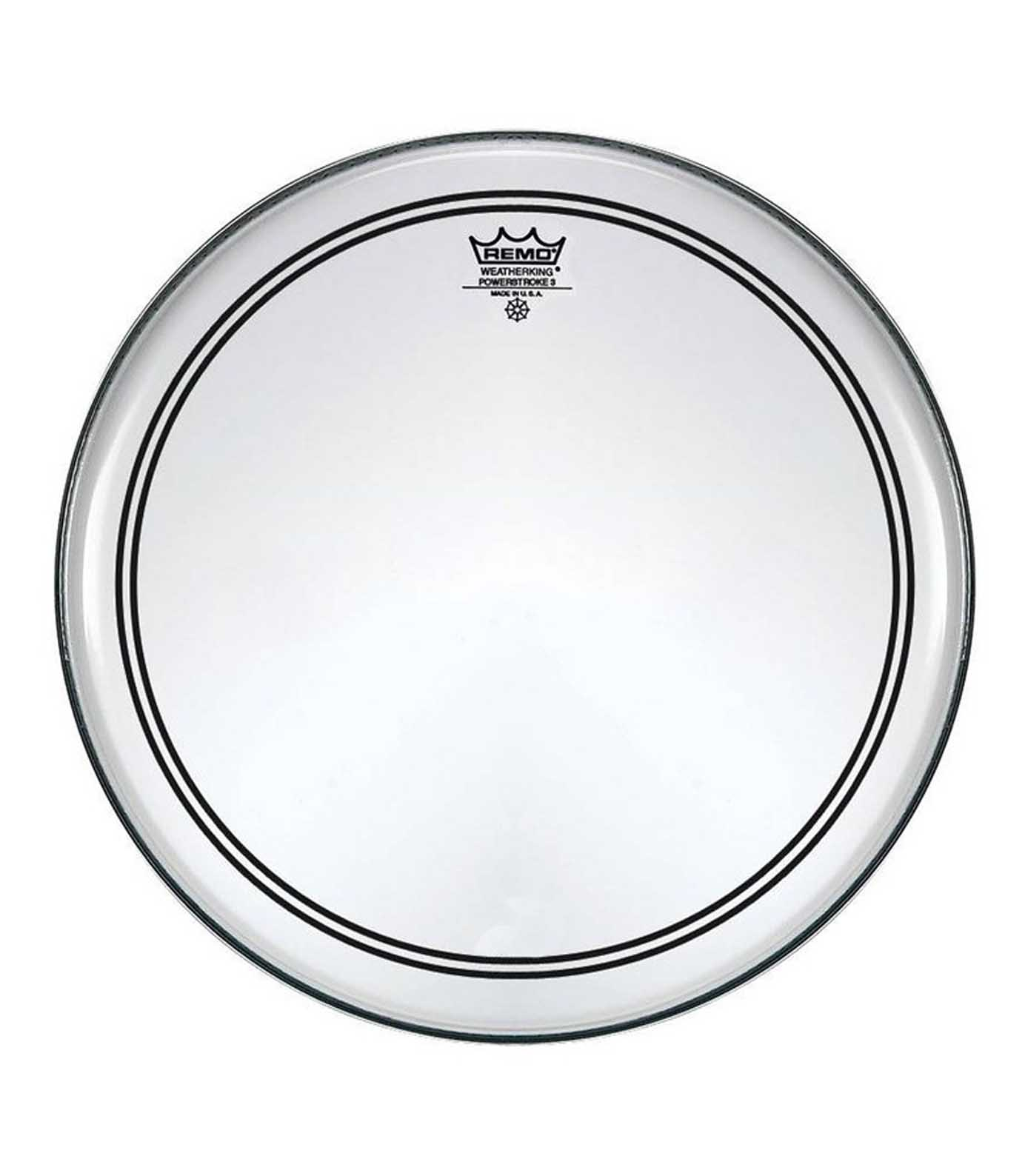 Remo - Bass POWERSTROKE 3 Clear 18 Diameter - Melody House Musical Instruments