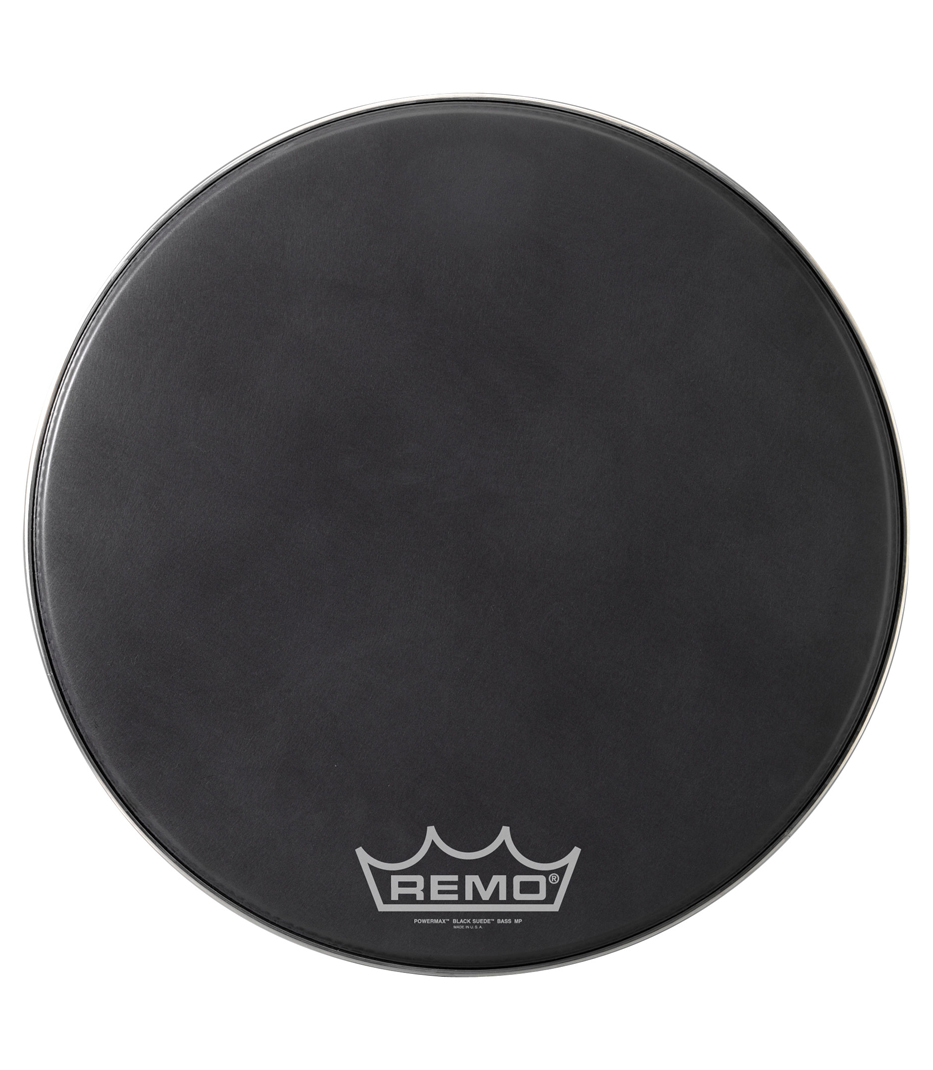 Remo - Bass POWERMAX BLACK SUEDE 20 Diameter MP - Melody House Musical Instruments
