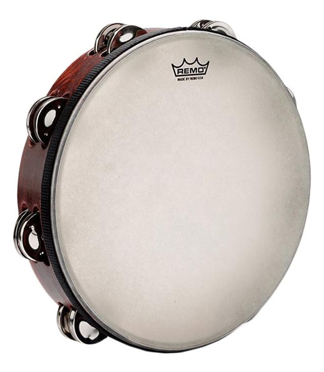 buy remo tambourine gospel 10 x 2 nuskyn pre tuned f