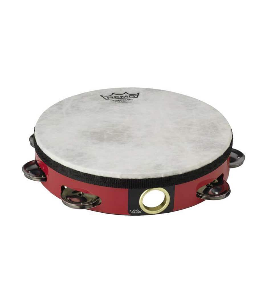 buy remo tambourine pre tuned 8 diameter 8 pairs red