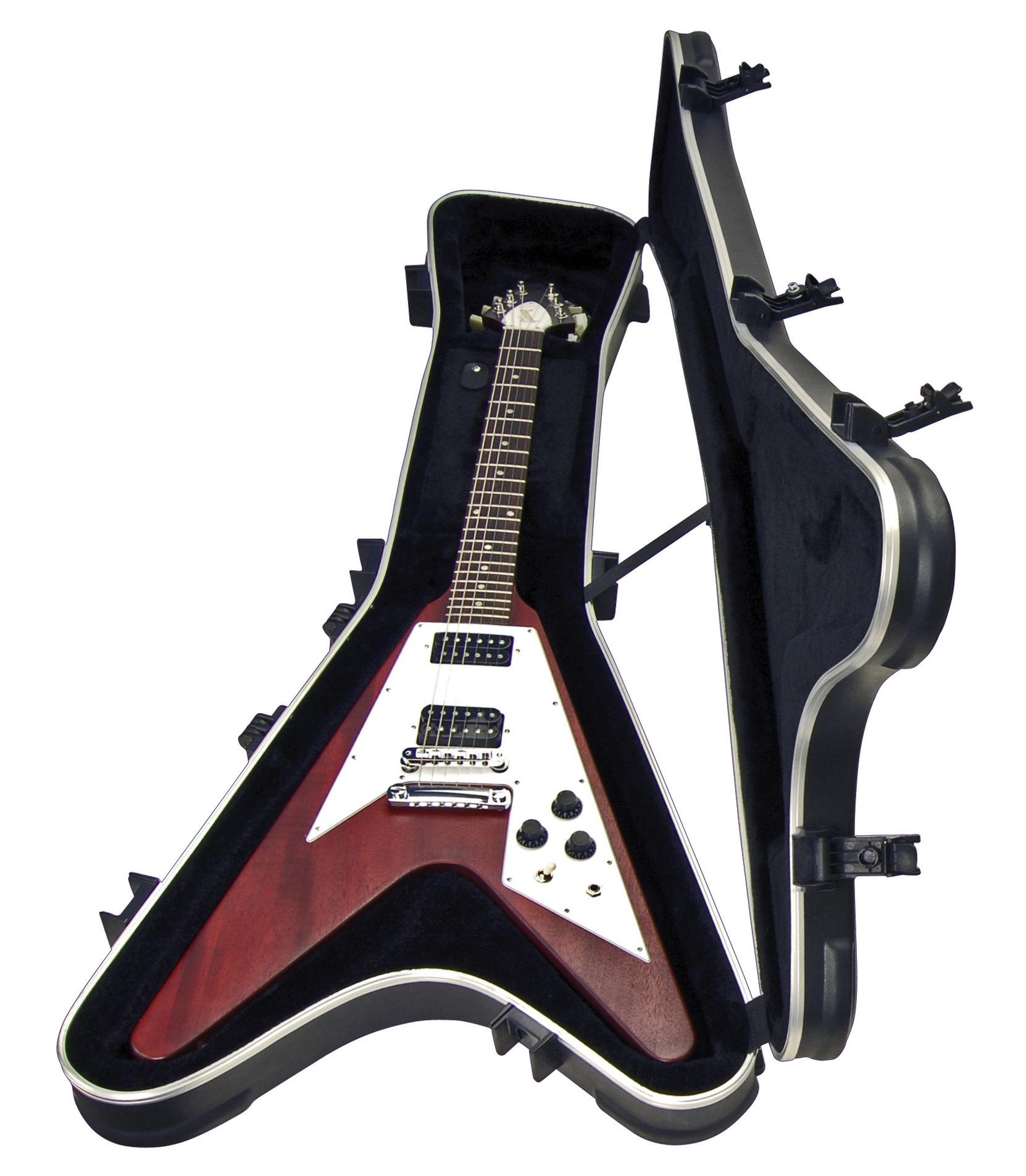 Melody House Musical Instruments Store - 1SKB 58 Flying V Type HardshellTSA Latch Over