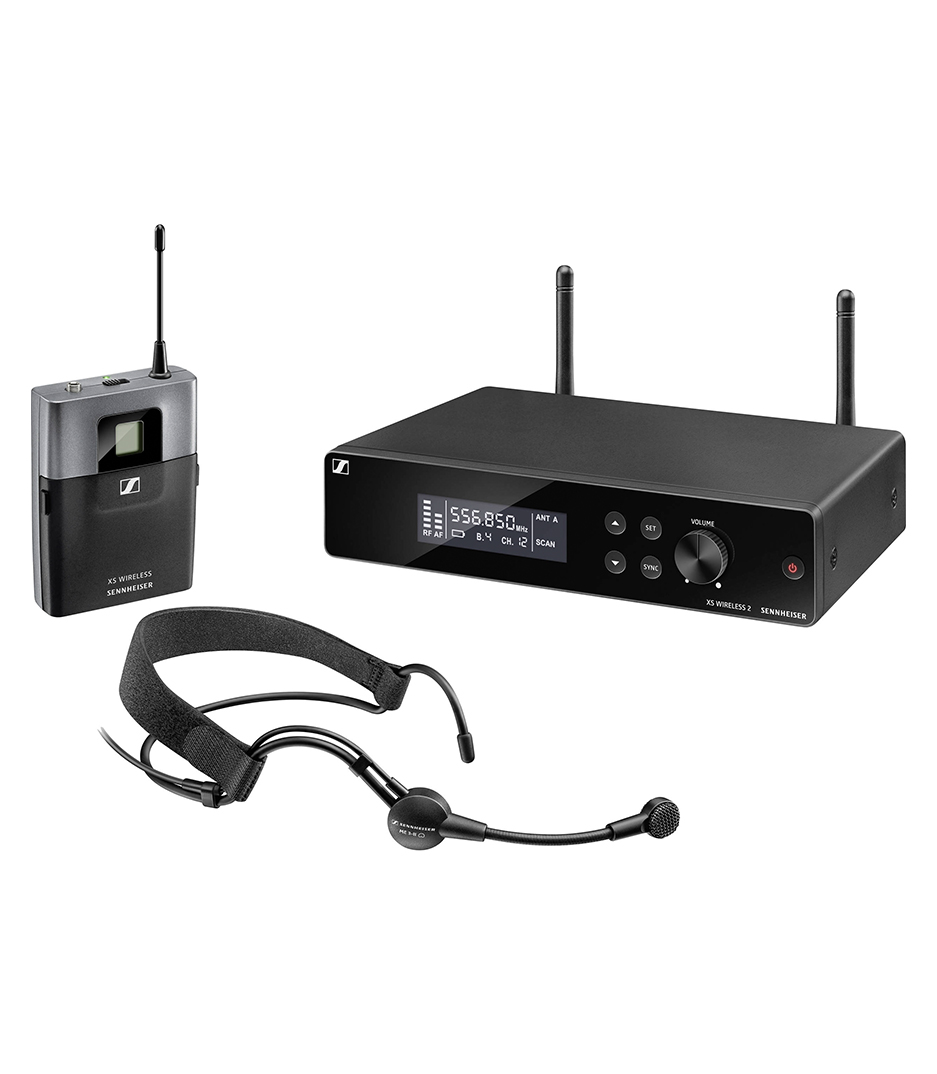 buy sennheiser xsw 2 me3 b headworn set with bodypack tx me3 ii a