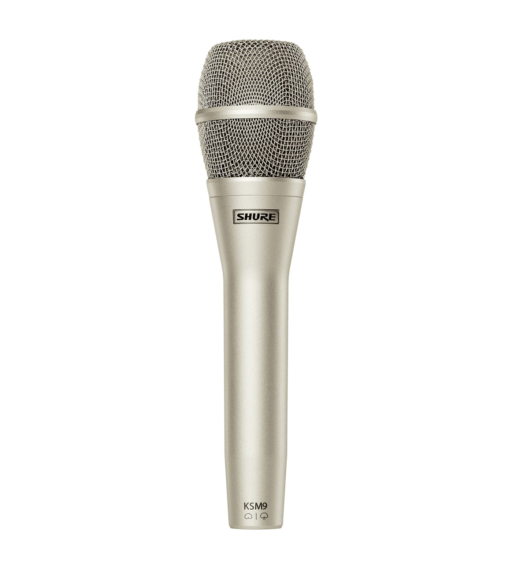 Buy Shure KSM9SL Condenser MultiPattern DualDiaphragm Silver Melody House