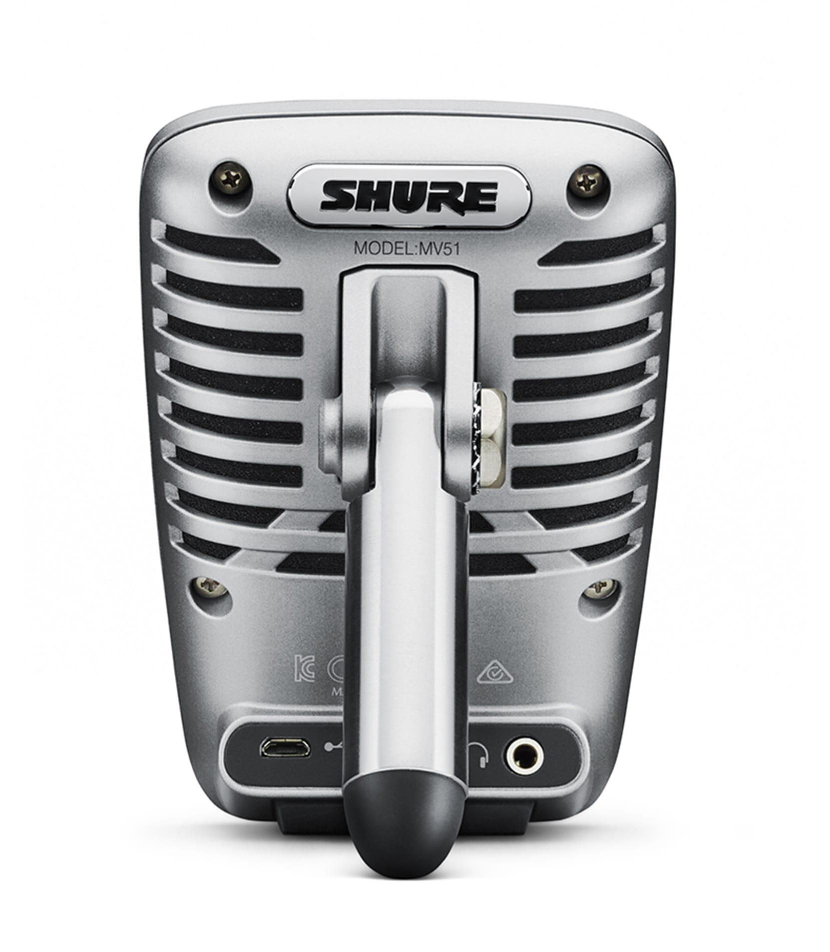 shure - MV51 A Digital Large Diaphragm Condenser Mic - Melody House