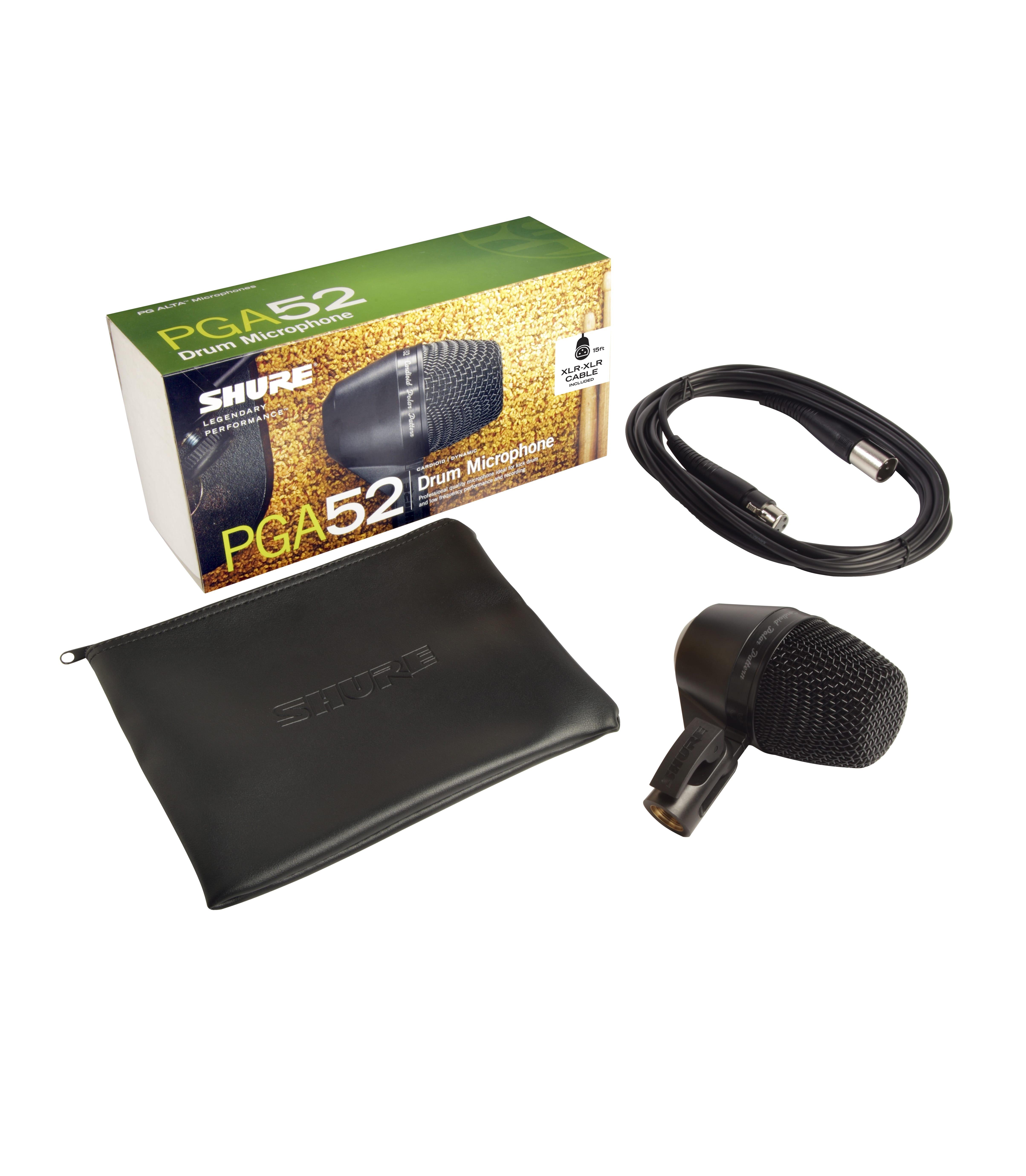PGA52 XLR KICK DRUM MIC W 15FT XLR CABLE - Buy Online