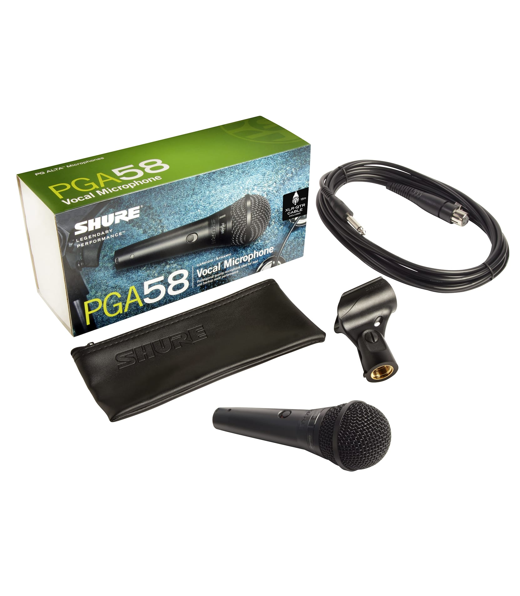 Shure - PGA58QTRE Cardioid Dynamic Vocal Mic w TS to XLR - Melody House