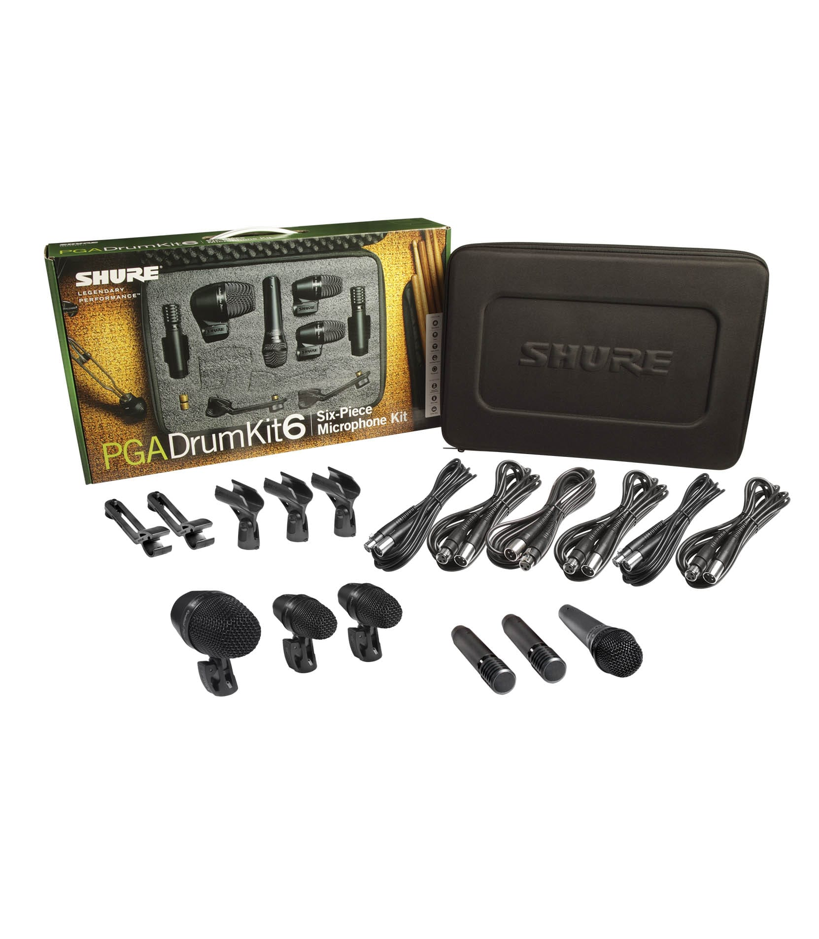 Shure - PGADRUMKIT6 6 Piece Drum Microphone Kit - Melody House Musical Instruments