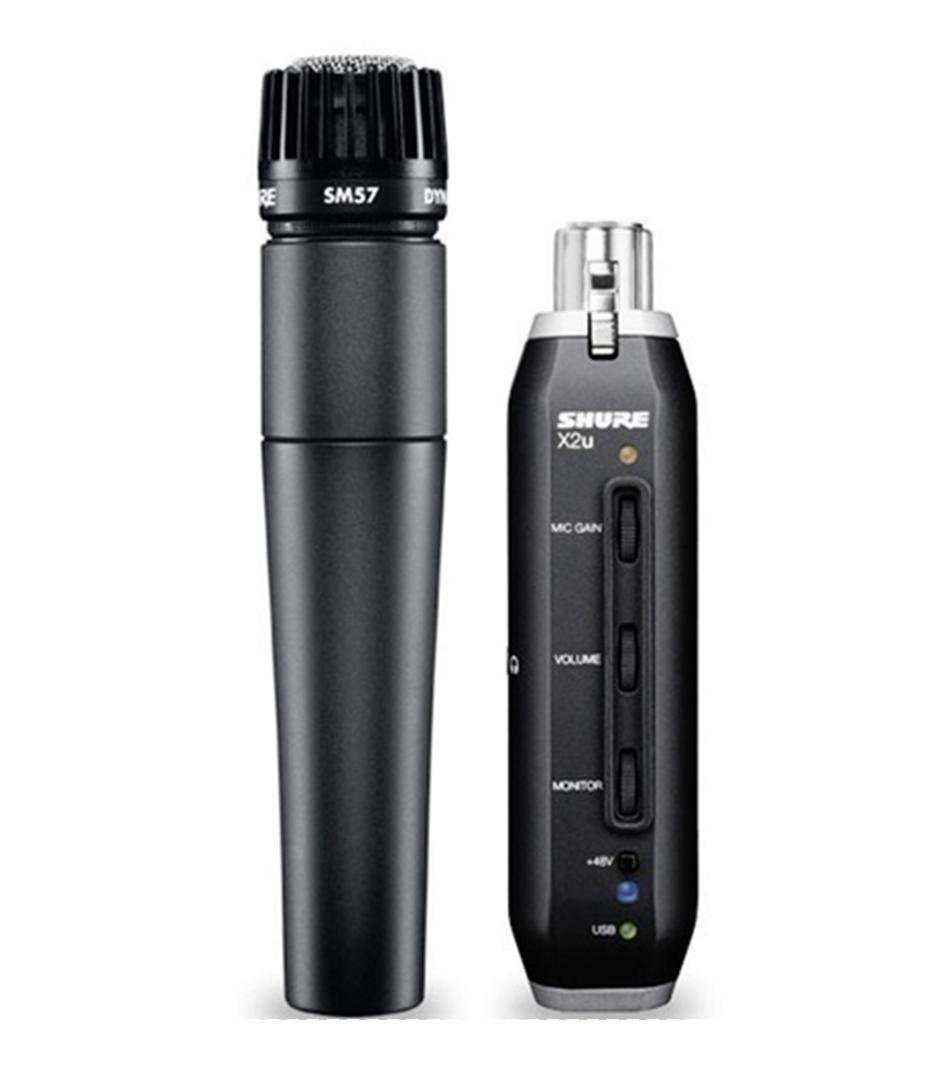 buy shure sm57 x2u microphone with xlr usb adapter